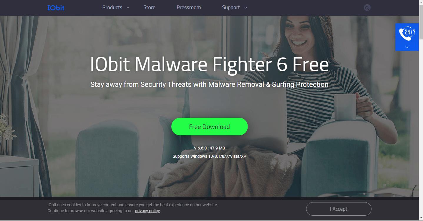 تحميل IOBit Malware fighter 6 free - افضل برنامج حماية من الفيروسات و التجسس للكمبيوتر مجاناً