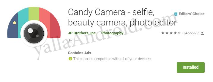 تطبيق Candy Camera لتعديل الصور