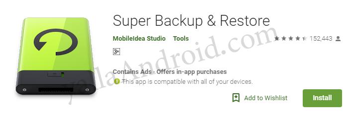 تطبيق super Backup