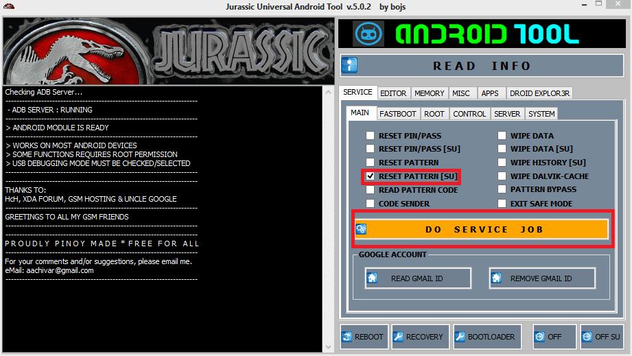Jurassic Universal Android Tool الجديدة لهواتف الاندرويد