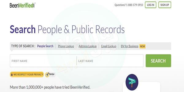 البحث عن شخص عن طريق اسمه عن طريق موقع Beenverified