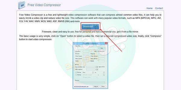 برنامج Free Video Compressor