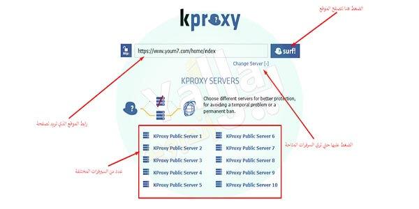 شرح استخدام موقع Kproxy