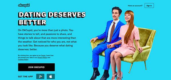 تطبيق OkCupid للتعارف